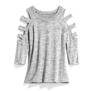 Papermoon Cut Out Sleeve Knit Top NWT